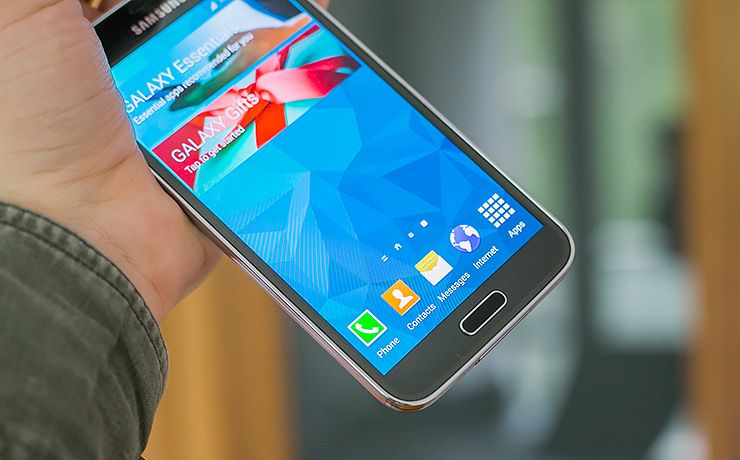 Samsung Galaxy S5 display test