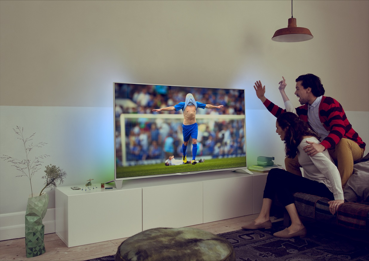 Philips TV ambilight 55PFS6609 press image