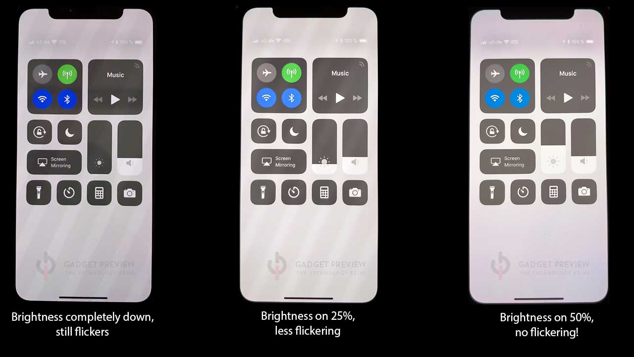 iPhone X flickering eye straining solution